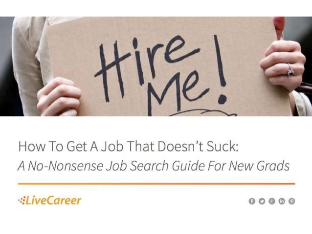 How To Get A Job That Doesnt Suck