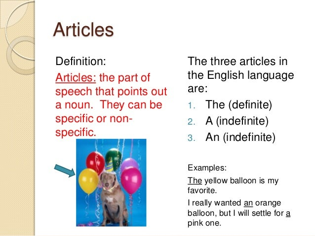 ... the definition and uses of parts of speech