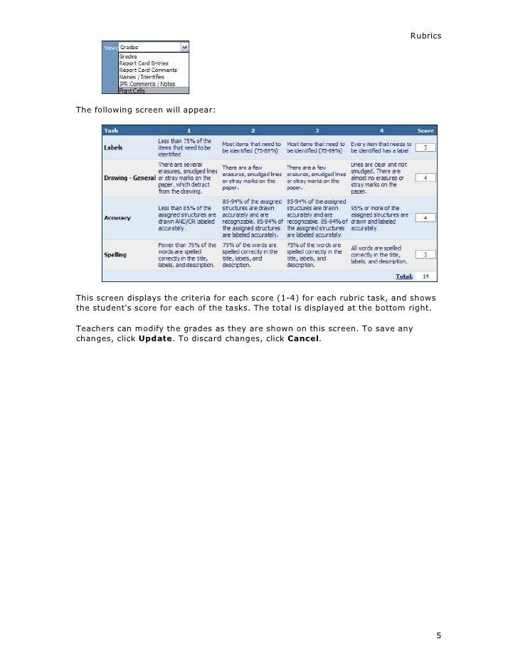 gradespeed user guide rubrics 08 17 07 1 rh slideshare net GradeSpeed AISD GradeSpeed AISD