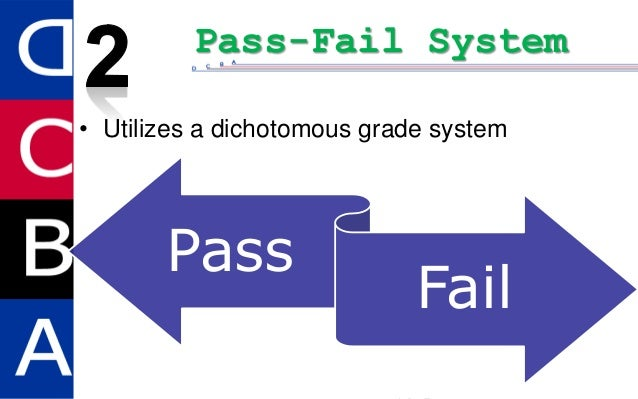 pass fail system Middle grade i request that the pass-fail system of marking be used to evaluate  my work in the course listed below in accordance with fcps current version of.