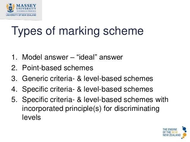how to prepare marking scheme