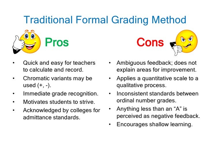 disadvantages of grading system essay Assigning course grades some disadvantages of grading based on comparison to a student's grade on an essay exam should not be influenced by his.