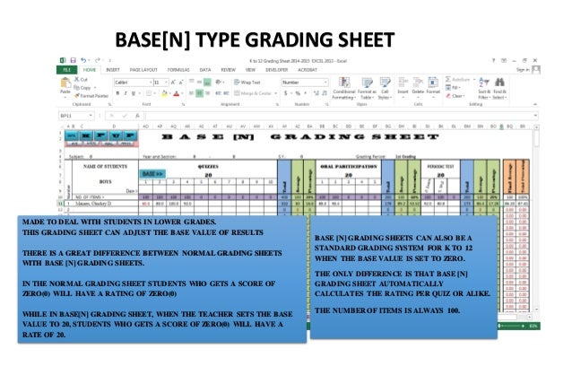 K TO 12 GRADING SHEET - DEPED PHILIPPINES