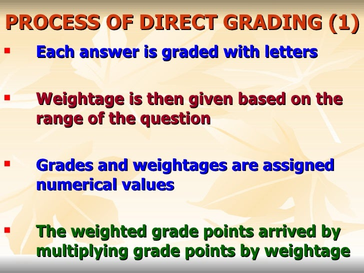 Making the Grade: What Benefits Students?