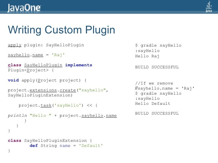Writing Custom Gradle Plugin using Java