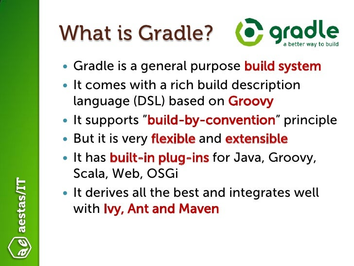 Introduction to Gradle  Slide 2