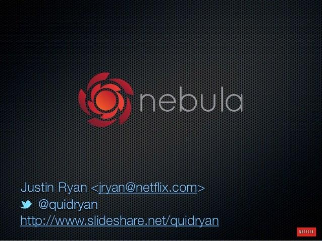 @quidryan@quidryan http://www.slideshare.net/quidryan Justin Ryan <jryan@netflix.com>