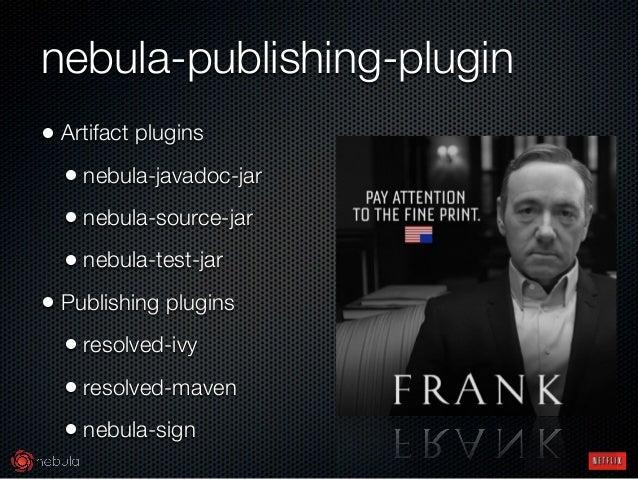 nebula-publishing-plugin • Artifact plugins • nebula-javadoc-jar • nebula-source-jar • nebula-test-jar • Publishing plugi...