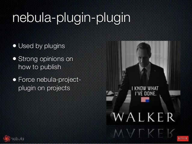 nebula-plugin-plugin • Used by plugins • Strong opinions on how to publish • Force nebula-project- plugin on projects