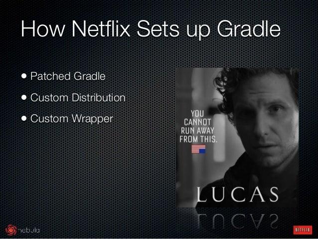 How Netflix Sets up Gradle • Patched Gradle • Custom Distribution • Custom Wrapper
