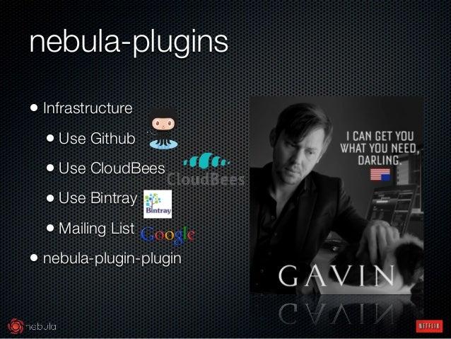 nebula-plugins • Infrastructure • Use Github • Use CloudBees • Use Bintray • Mailing List • nebula-plugin-plugin