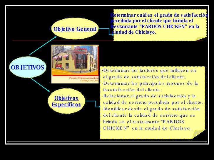 Grado De Satisfaccion Del Cliente Del Restaurante Pardos