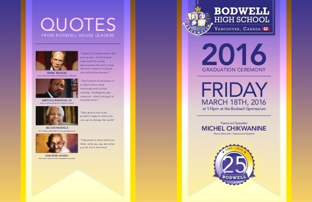 Bodwell Graduation Program