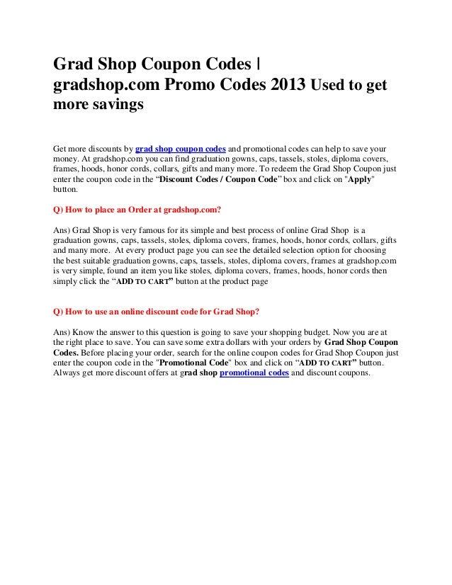 GradShop Coupons | Grad Shop Coupon Codes | gradshop.com Promo Codes