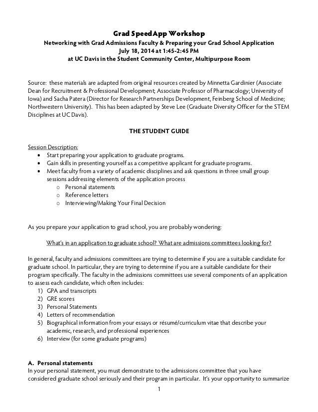 ... 4. 1 Grad SpeedApp Workshop Networking With Grad Admissions ...