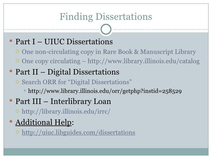 Uiuc dissertations