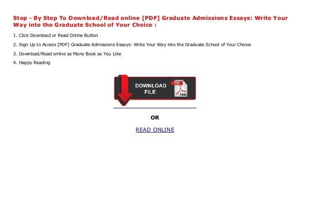 Best graduate school admission essays write into the graduate