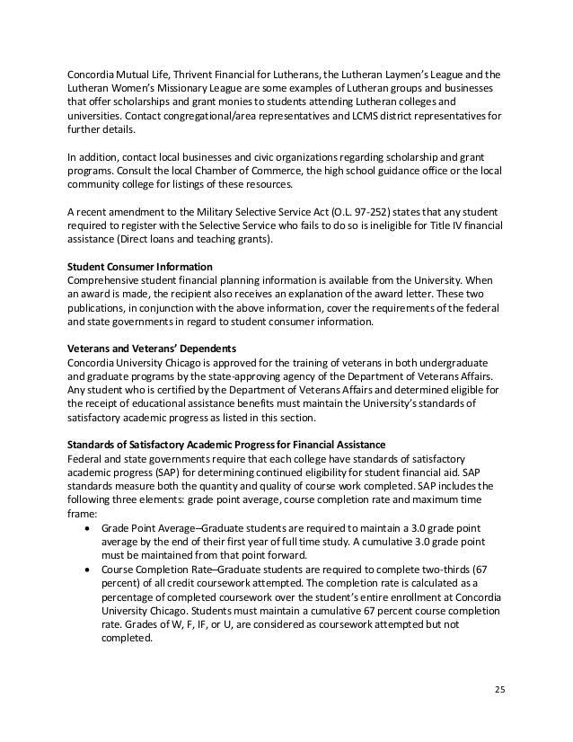 concordia university chicago graduate catalog