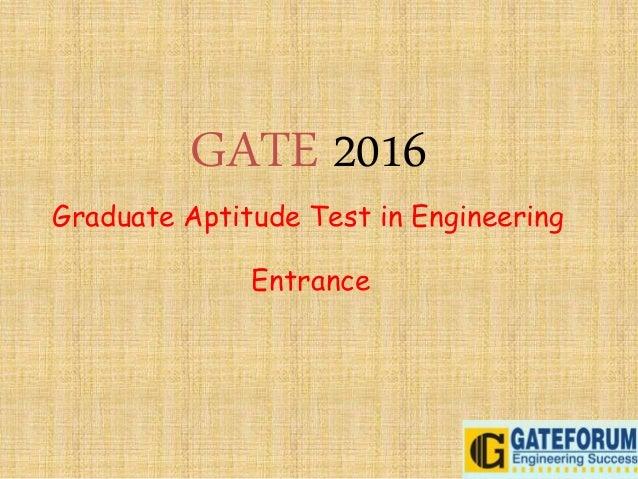 Graduate aptitude test in engineering entrance