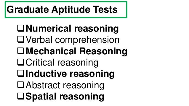 Graduate Aptitude Tests Questions and Answers