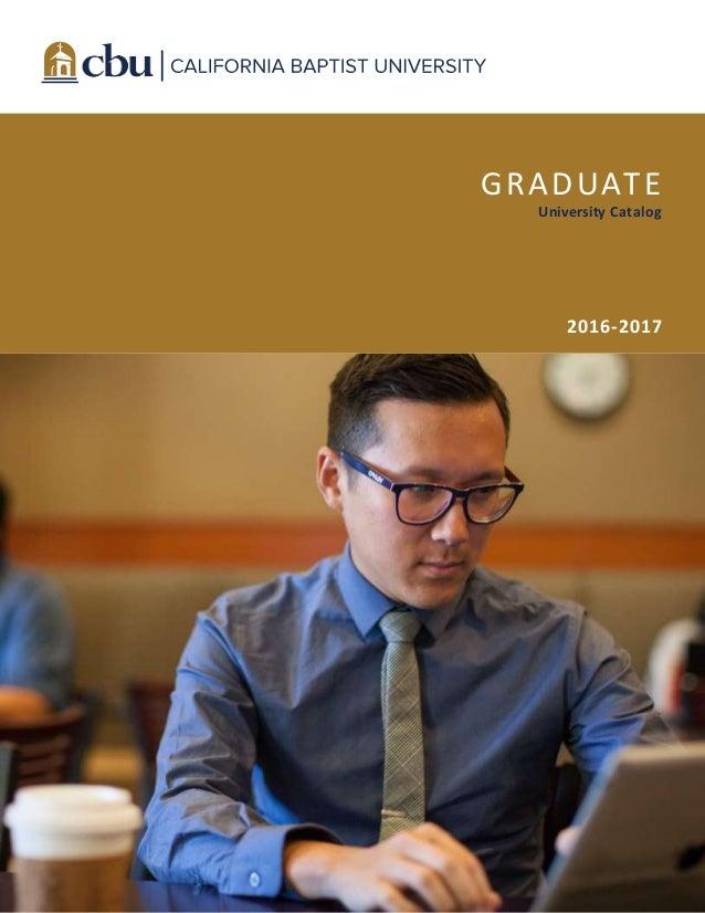 GRADUATE University Catalog 2016-2017
