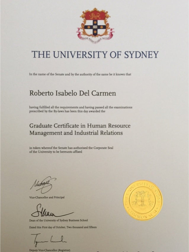 Graduate Certificate In Human Resource Management And Industrial Rela