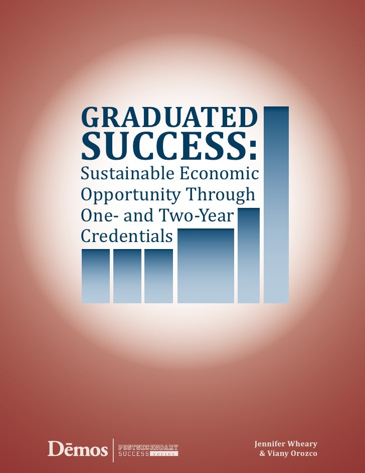 GRADUATED Sustainable Economic SUCCESS: Opportunity Through One- and Two-Year Credentials                        Jennifer ...