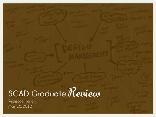 SCAD Graduate ReviewRebecca HortonMay 18, 2012