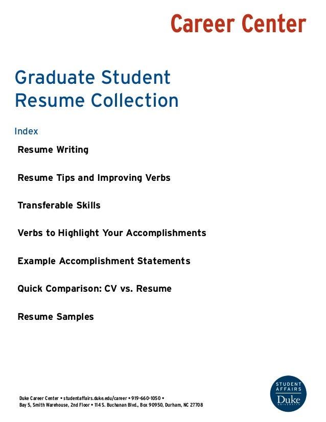 Career Center Duke Career Center U2022 Studentaffairs.duke.edu/career U2022 919   Career Center Search Strategically Resume Writing The Resume Serves ...