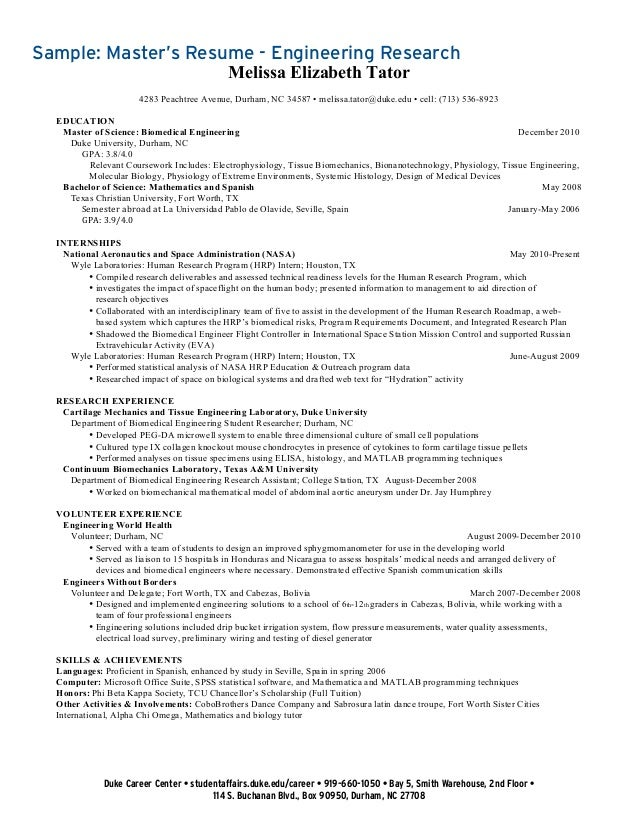 Graduate Student Resume Collection