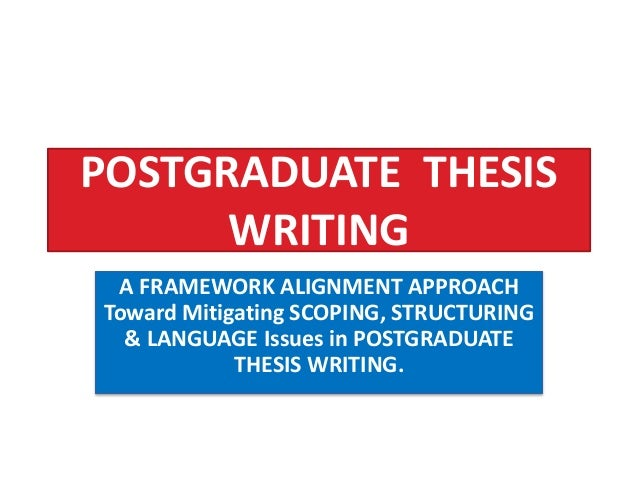 masters thesis writing from a narrative approach Thesis writing as the final phase in achieving the master's degree has been identified both as a culmination of university studies, providing students with a bridge.