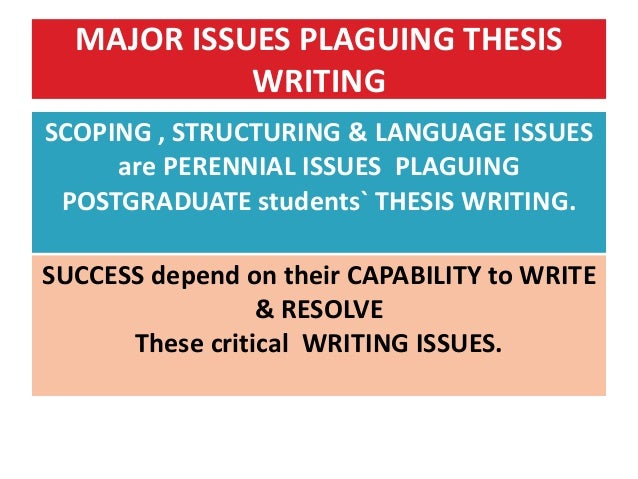 Writing a graduate thesis workshop