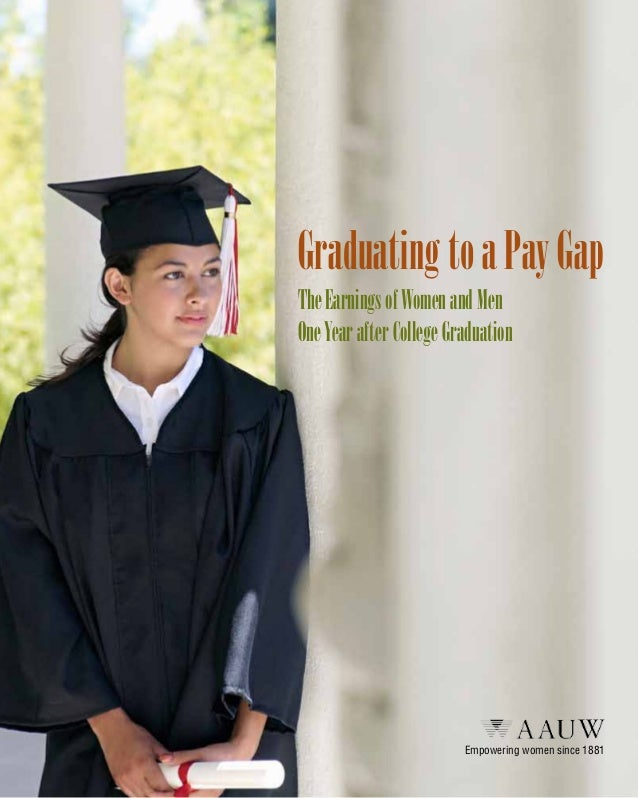 Graduating to a Pay Gap The Earnings of Women and Men One Year after College Graduation  Empowering women since 1881