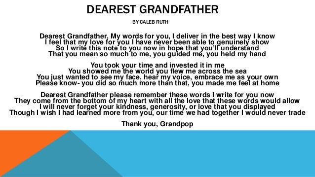 how to write an essay about your grandfather