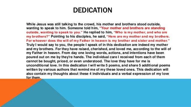 6 Dedication Speeches
