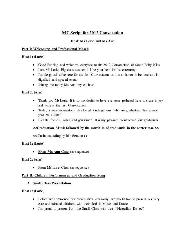 sample graduation ceremony programme koni polycode co