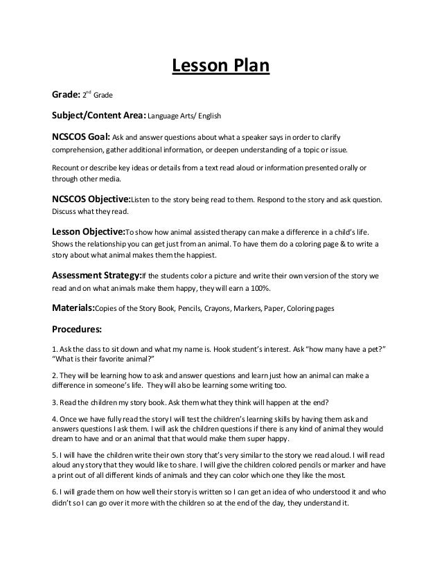 Graduation project newest lesson plan