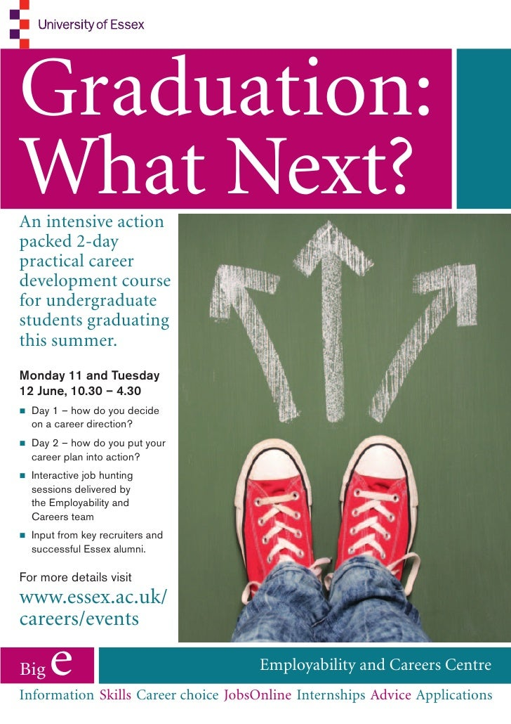 Graduation:What Next?An intensive actionpacked 2-daypractical careerdevelopment coursefor undergraduatestudents graduating...