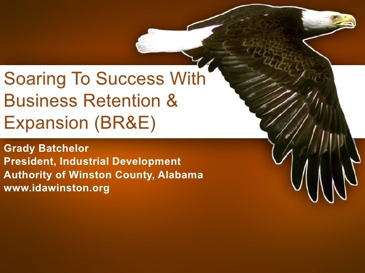 Soaring To Success With Business Retention & Expansion (BR&E) Grady Batchelor President, Industrial Development Authority ...