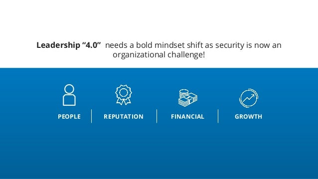 """Leadership """"4.0"""" needs a bold mindset shift as security is now an organizational challenge! PEOPLE REPUTATION FINANCIAL GR..."""