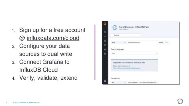 • On Slack - influxdata.com/slack • On GitHub - github.com/influxdata • Community Office Hours • Virtual Meetups & Summits...