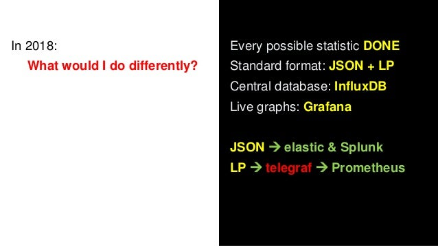In 2020: njmon = JSON output to njmond.py central daemon nimon = InfluxDB Line Protocol direct to InfluxDB What to know mo...