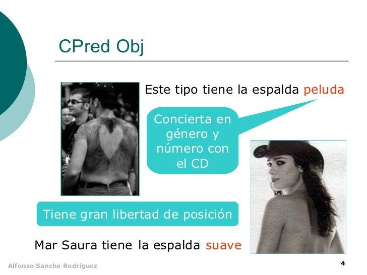 CPred Obj                           Este tipo tiene la espalda peluda                            Concierta en             ...