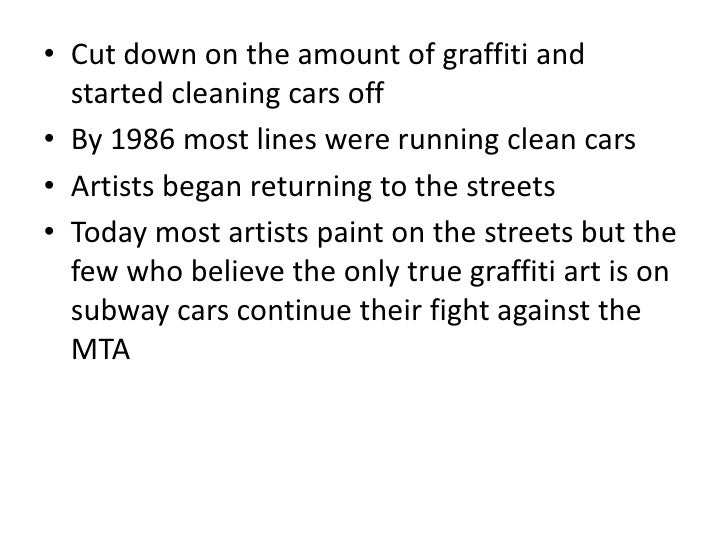 "history of graffiti essay Graffiti essay examples 14 total results the graffiti art history in the modern  cities portrayed as vandalism ""ruthless destruction or spoiling of anything."
