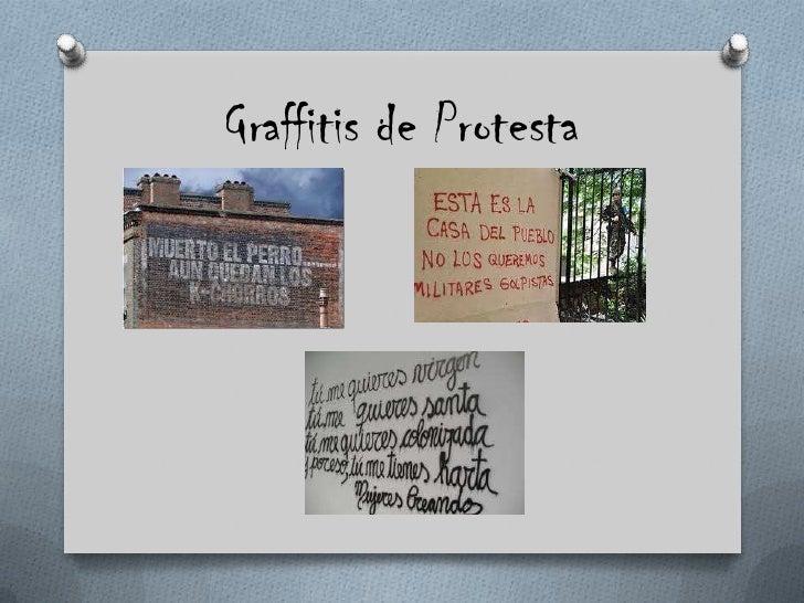 Graffitis de Protesta <br />