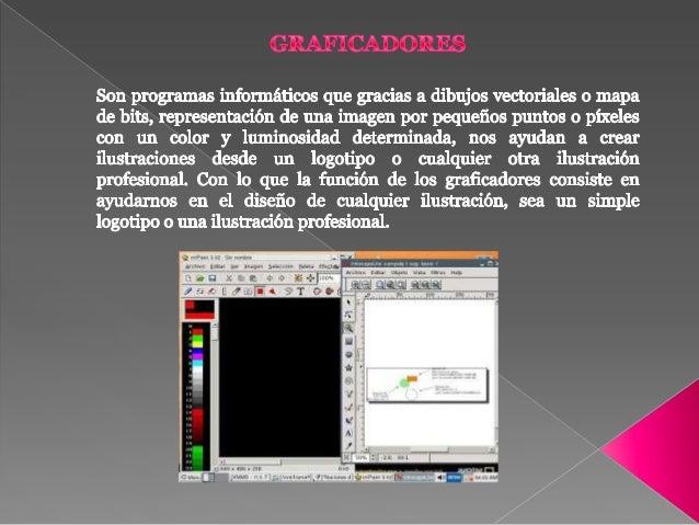 FUNCIONES DE LOS GRAFICADORES  Nos ayuda con el diseño de cualquier ilustración.  Nos ayuda como instrumento pedagógico ...
