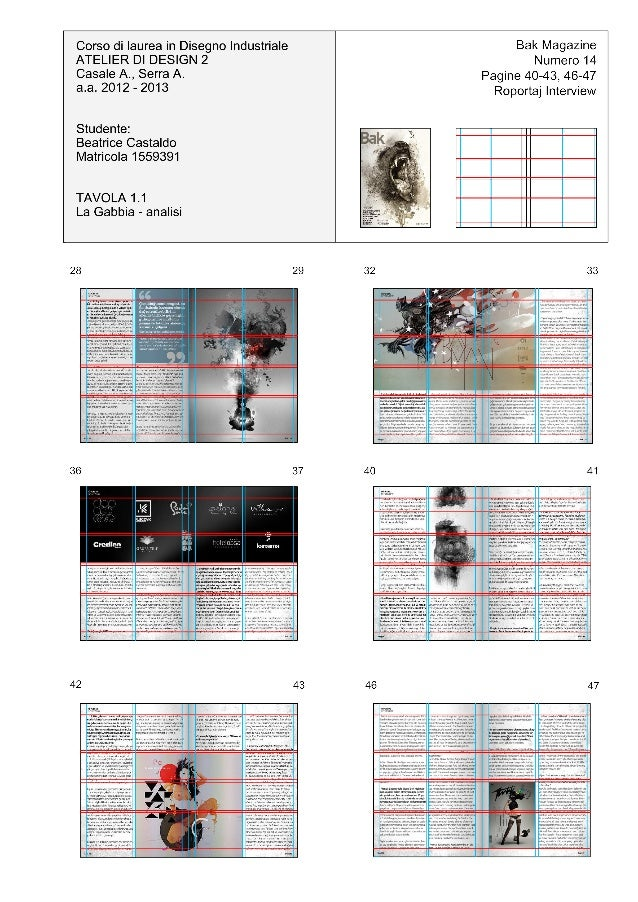 Grafica editoriale studio delle griglie - Griglie di aerazione design ...