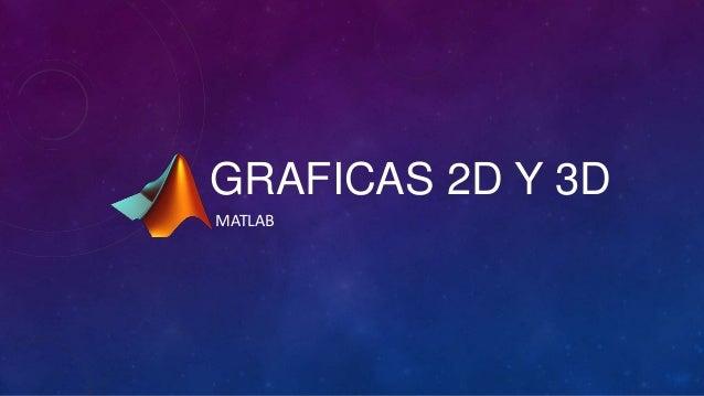 GRAFICAS 2D Y 3DMATLAB