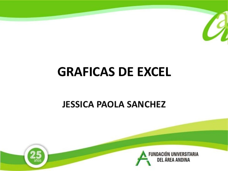 GRAFICAS DE EXCEL<br />JESSICA PAOLA SANCHEZ <br />