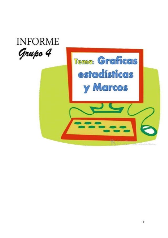 Graficas estadisticas y Marcos en excel